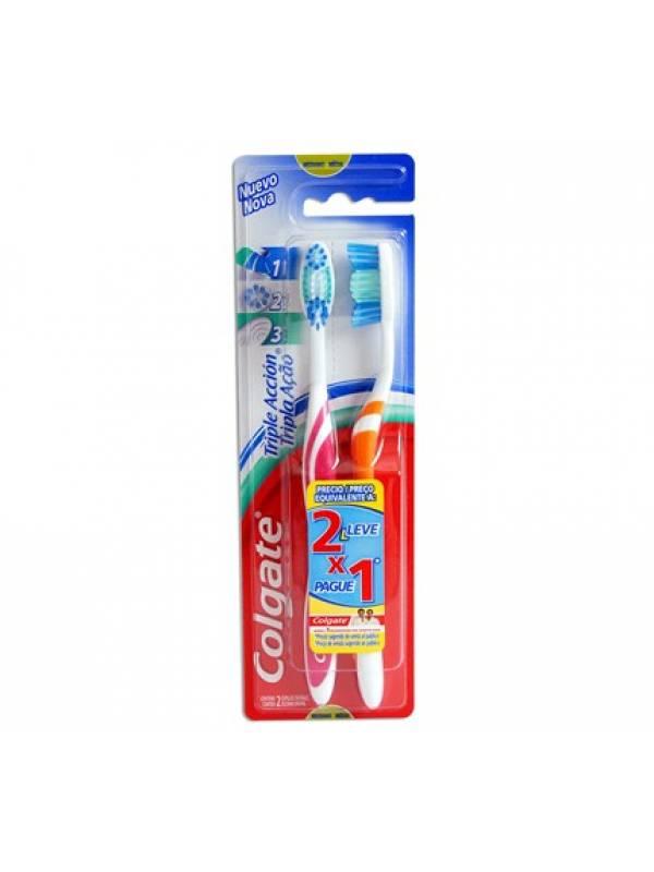 Cepillo Dental Colgate Triple Acción 2×1