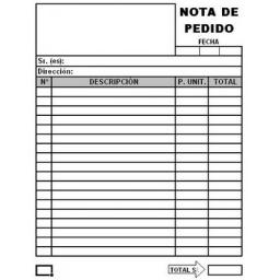 NOTA DE PEDIDO SIMPLE