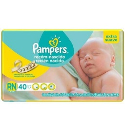 PAMPERS RECIEN NACIDO X 40