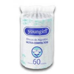 DISCOS DE ALGODON YOUNGIRL X 60