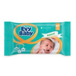 EVY BABY TOALLITAS HUMEDAS X 60 UNIDADES