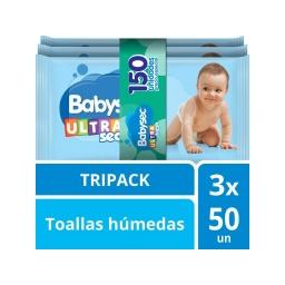 TOALLITAS BABYSEC ULTRA X 150 UNIDADES