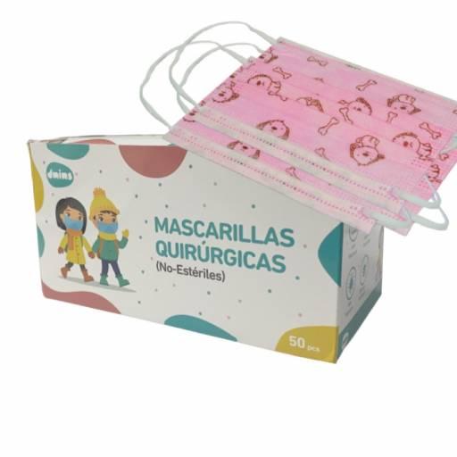 TAPABOCAS INFANTIL CON ELASTICO CAJA X 50 UNIDADES