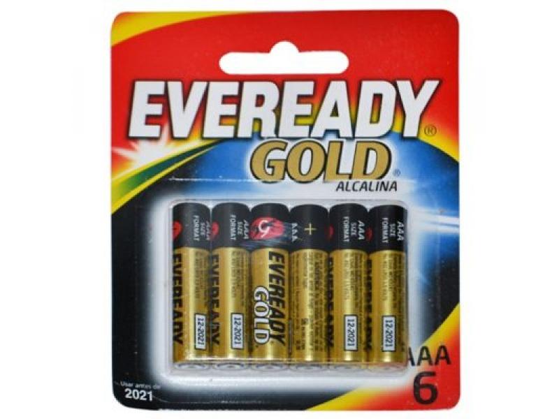 PILAS ALCALINAS EVEREADY GOLD AA X 6