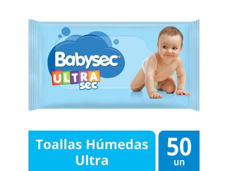 TOALLITAS BABYSEC ULTRA X 50 UNIDADES